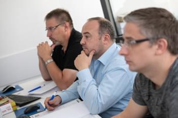 Teilnehmergruppe für garantierte Präsentation Anfänger Fortbildung